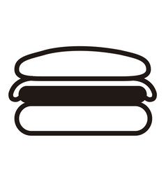 isolated cheeseburger icon vector image