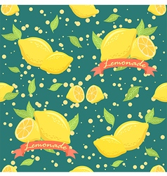 Lemonade Seamless Pattern Teal vector image