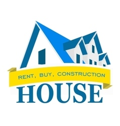 Logo house Rental sales and construction vector image