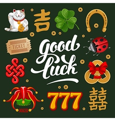 Lucky charms set vector