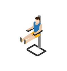 Man doing workout in gym icon isometric 3d style vector