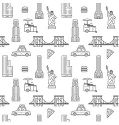 new york city seamless pattern vector image