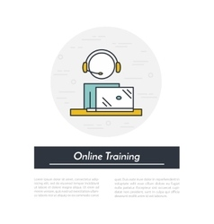 Online training icon vector