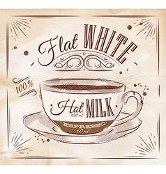 Poster flat white kraft vector