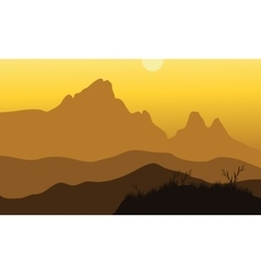 Scenery of noon at mountains vector