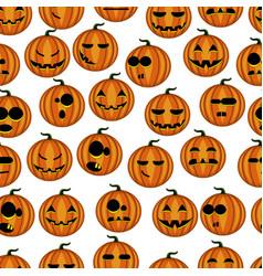 Seamless pattern pumpkins vector