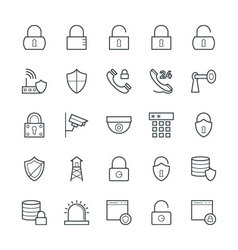 Security Cool Icons 1 vector image vector image
