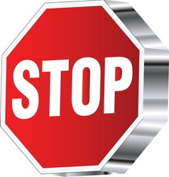 Stop sign 01 resize vector image vector image