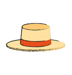 summer hat icon image vector image vector image
