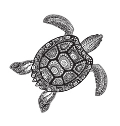 Turtle ethnic tribal style decorative ornament vector