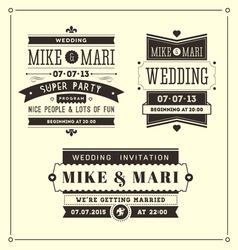 Retro weddings vector