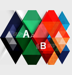 infographic template - triangle tiles background vector image