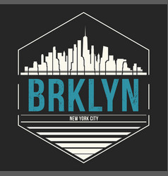 Brooklyn new york graphic t-shirt design tee vector
