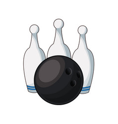 bowling ball and pin game equipment image vector image