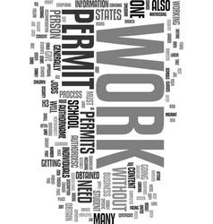 Work permits text word cloud concept vector