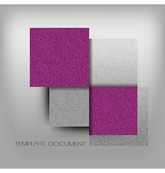 Business four squares purple with text grain vector