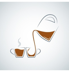 Coffee cup glass pot background vector