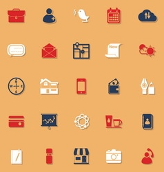 Mobile classic color icons with shadow vector