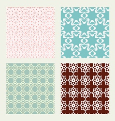 Patterns set in trendy mono line style vector