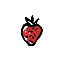 Hand drawn art strawberry for textile print vector