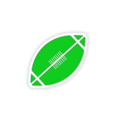 Icon sticker realistic design on paper rugby vector
