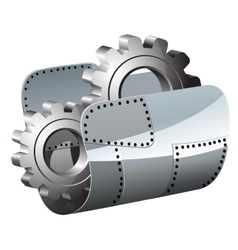 Steel settings folder vector