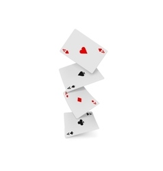 Four aces playing cards icon realistic style vector