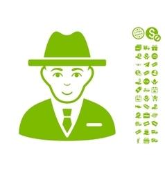 Agent icon with free bonus vector