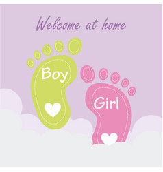 baby shower design over pink background vector image