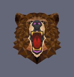 Bear head polygon geometric vector image