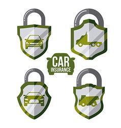 car insurance design vector image vector image