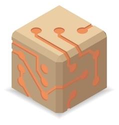 Circuit board icons vector