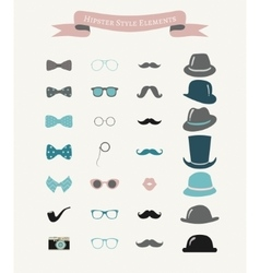 Colorful fashion hipster retro vintage icon vector