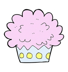 comic cartoon cup cake vector image vector image
