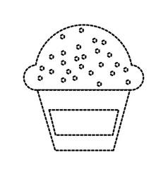 dessert food cup cake cream sweet bakery vector image vector image