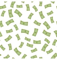 Falling money flat design vector