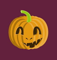 Flat on background of halloween vector