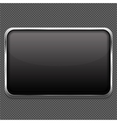 Frame on Metal Background vector image