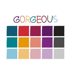 Gorgeous color tone without code vector
