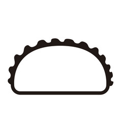 isolated taco icon vector image