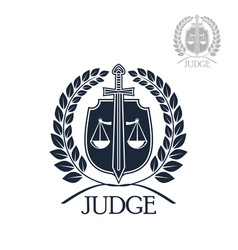 lawyer firm judge and law office symbol vector image vector image