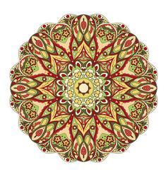 Mandala round oriental pattern doodle drawing vector