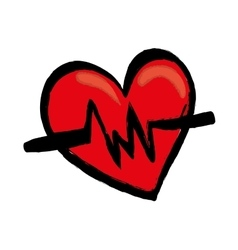 Medical cardiology heartbeat vector