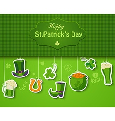 Poster banner or background for Happy St Patricks vector image