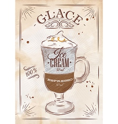 Poster glace kraft vector
