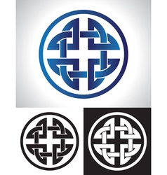 quaternary celtic knot vector image