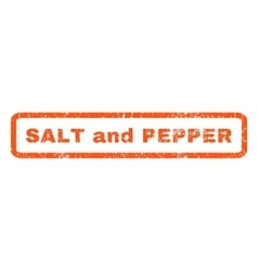 Salt and pepper rubber stamp vector