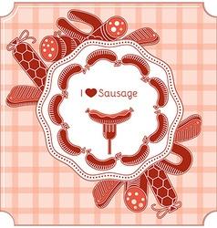 Sausage invitation vector image