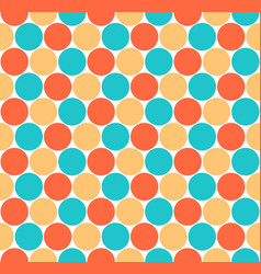 seamless pattern colored circular shapes vector image vector image