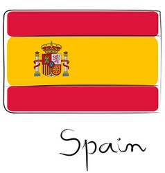 Spain flag doodle vector image